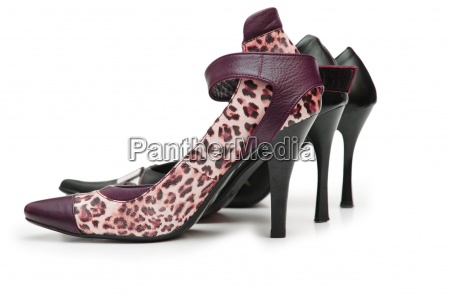female shoes on high heel isolated