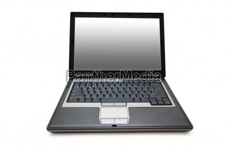 laptop schoss mit der weitwinkellinse die