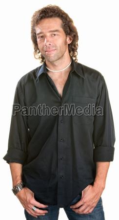 smililng man standing