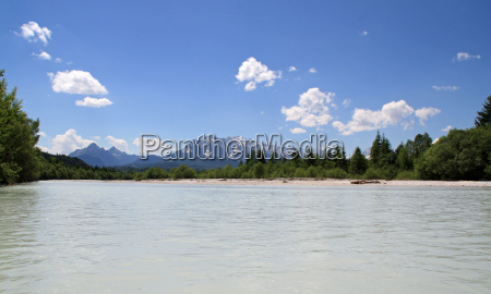 mountains stream bavaria river bed river