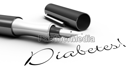 diabetes stift konzept