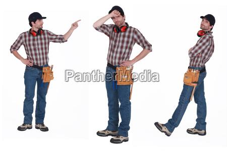 handyman with ear muffs