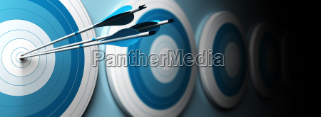 blue targets and arrow