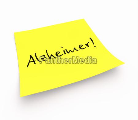 notiz alzheimer