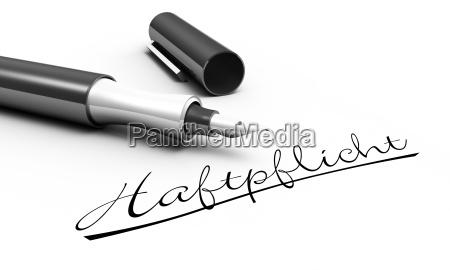 liability pen concept