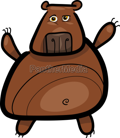 cartoon illustration of grizzly bear