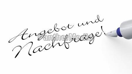stift, konzept, -, angebot, und, nachfrage! - 7534104