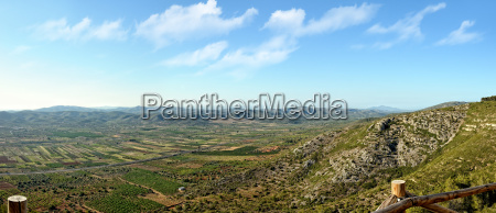 panoramic view to the mountains summer