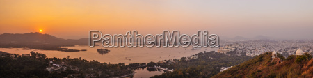a panoramic image of udaipur and