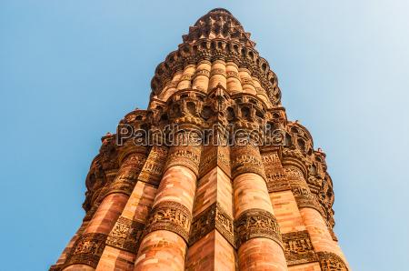 the minaret of qutub minar