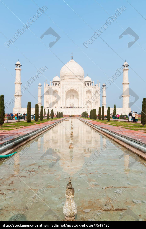 die, unglaubliche, taj, mahal, in, agra, indien - 7549430