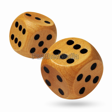 a pair of rolling dices on