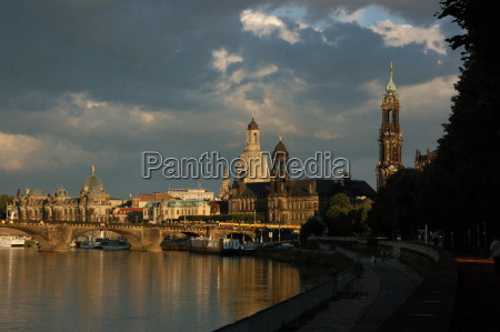 overlooking the elbe and dresden