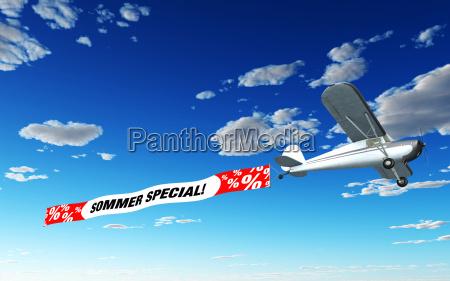 flugzeug mit werbung sommer special