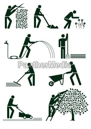 gartenpflege piktogram