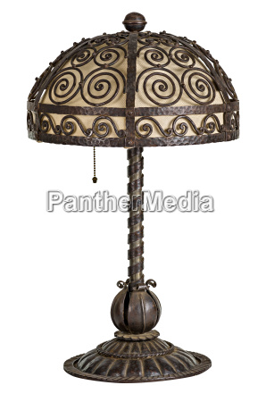 antique hand forged table lamp