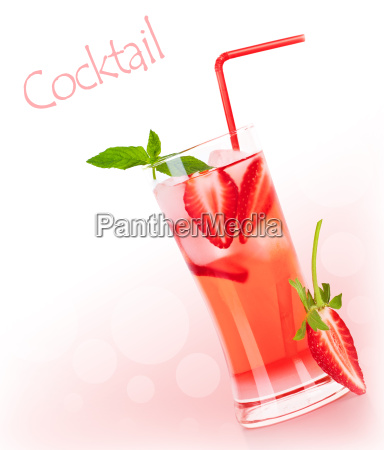 red fruity cocktail border