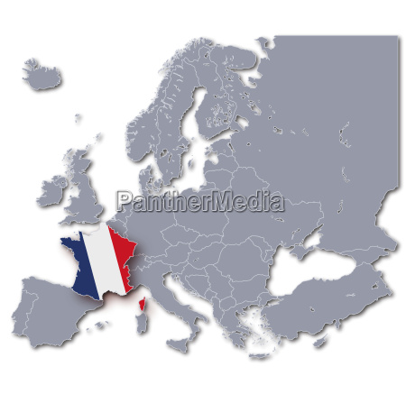 europa karte frankreich
