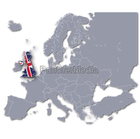 europa karte grossbritannien