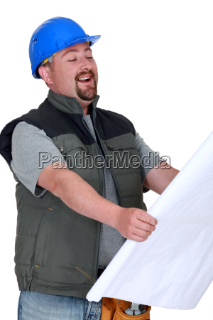 builder laughing at plans