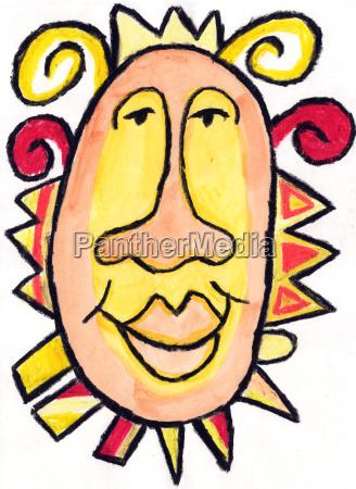 bright happy face
