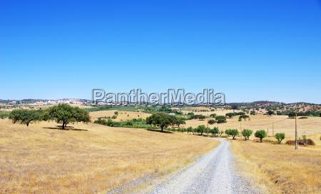 laendliche landschaft von alentejo dorf portugal
