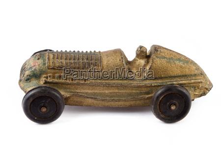antike spielzeug rennwagen
