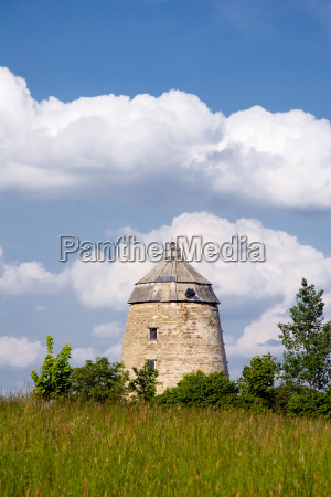 mill tower old watermill windmill meadow
