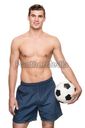 mann mit fussball