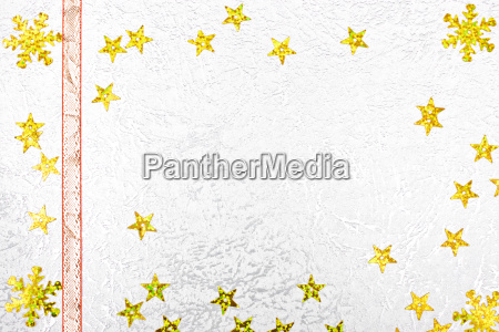 golden stars against a silver background