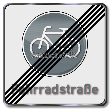 verkehrsschild fahrradstrasse