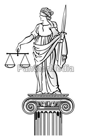 justizia auf saeule