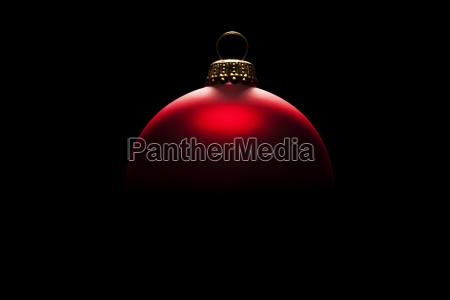 spannende rote christbaumkugel