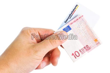 euroschein und gesundheitskarte