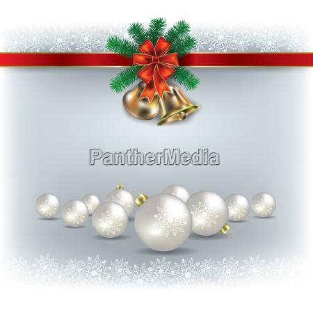weihnachtsglocken und dekorationen