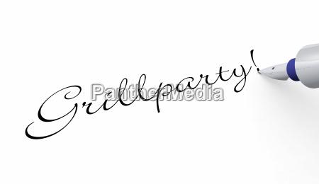 pen concept grillparty