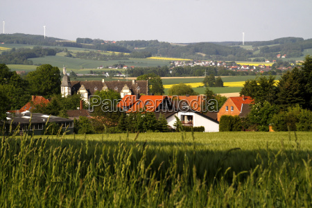 blick auf wendlinghausen vom friedhof aus