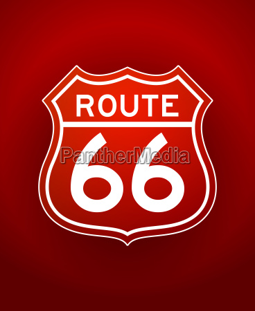 red route 66 silhouette