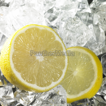 citrus fruits and ice