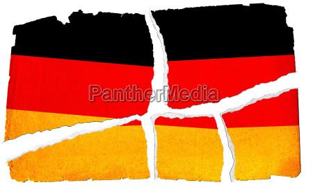 grungy fahne deutschland
