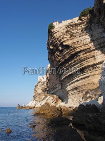 bonifacio cliff corsica france