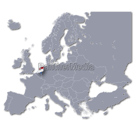 europakarte niederlande