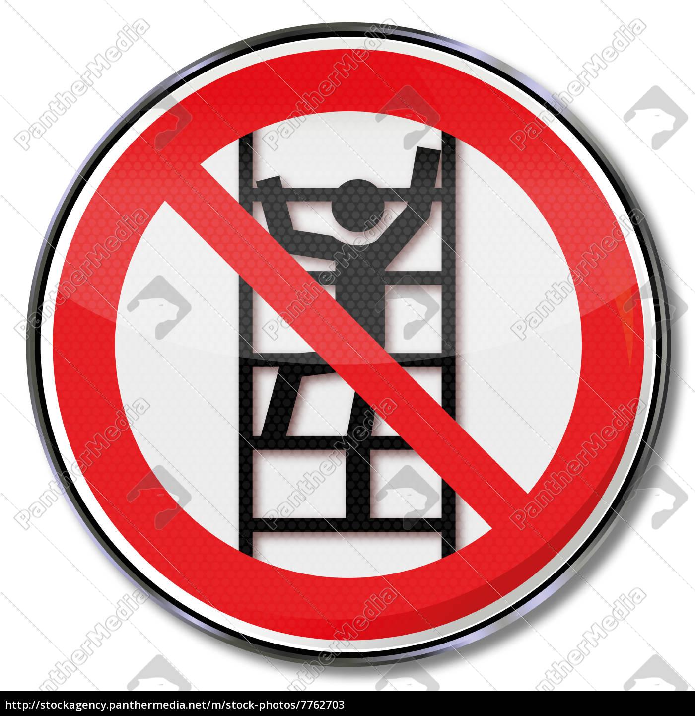 verbotszeichen unbefugtes besteigen verboten lizenzfreies bild 7762703 bildagentur. Black Bedroom Furniture Sets. Home Design Ideas