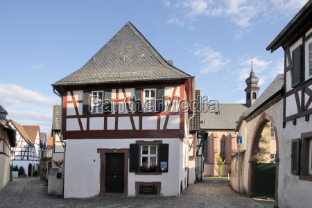house building historical frame work germany