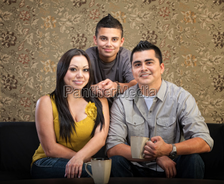 liebend hispanische familie