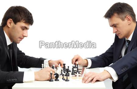 pensive chessmen