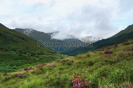 glenfinnan scenery at summer time