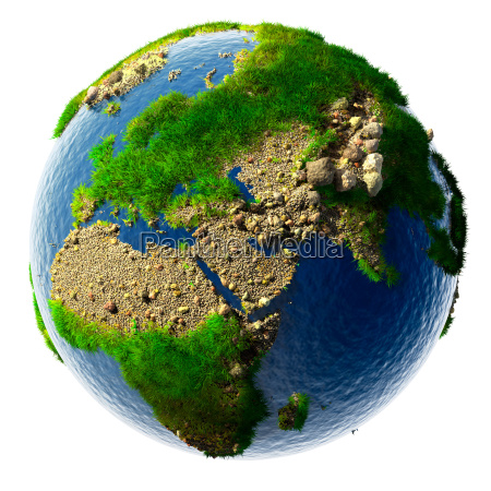 detailed concept nature of the earth
