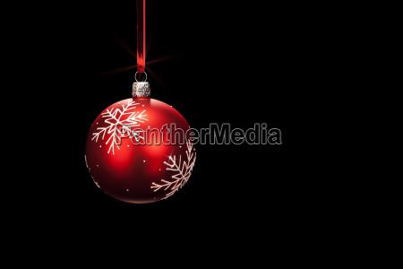 haengende rote christbaumkugel