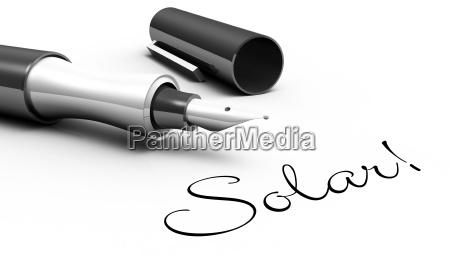 solar pen concept